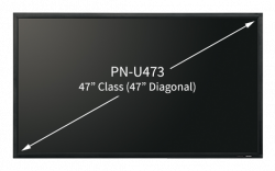 "Sharp PN-U473 47"" Class Professional LED Backlit LCD Monitor"