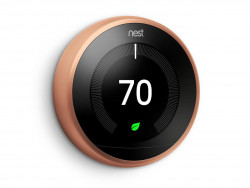 Nest 9750016 T3016US Learning Thermostat, Easy Temperature Control for Every Room in Your House, Black (Third Generation), Works with Alexa Small