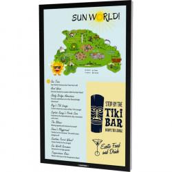 "Sunbrite 55"" Marquee Series Outdoor Digital Signage – Full Sun Ultra Bright – Portrait Orientation – DS-5525P"