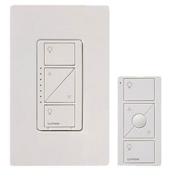 Caseta Wireless Smart Lighting Dimmer Switch and Remote Kit for Wall & Ceiling Lights, P-PKG1W-WH, White, Works with Amazon Alexa
